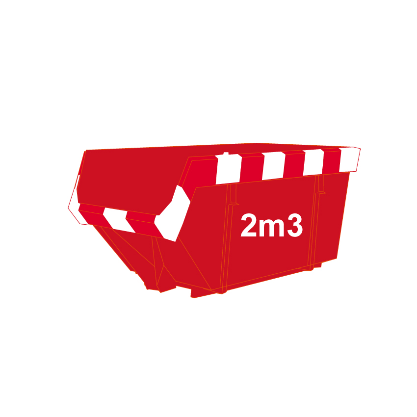 Bouwafval-container-2m3