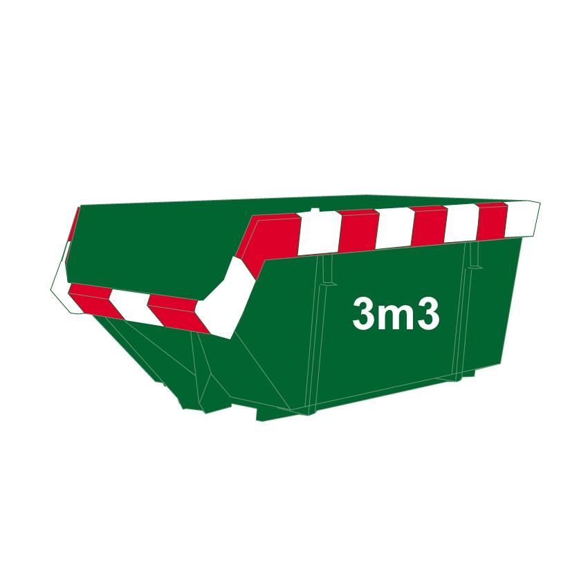 Groenafval container 3m3
