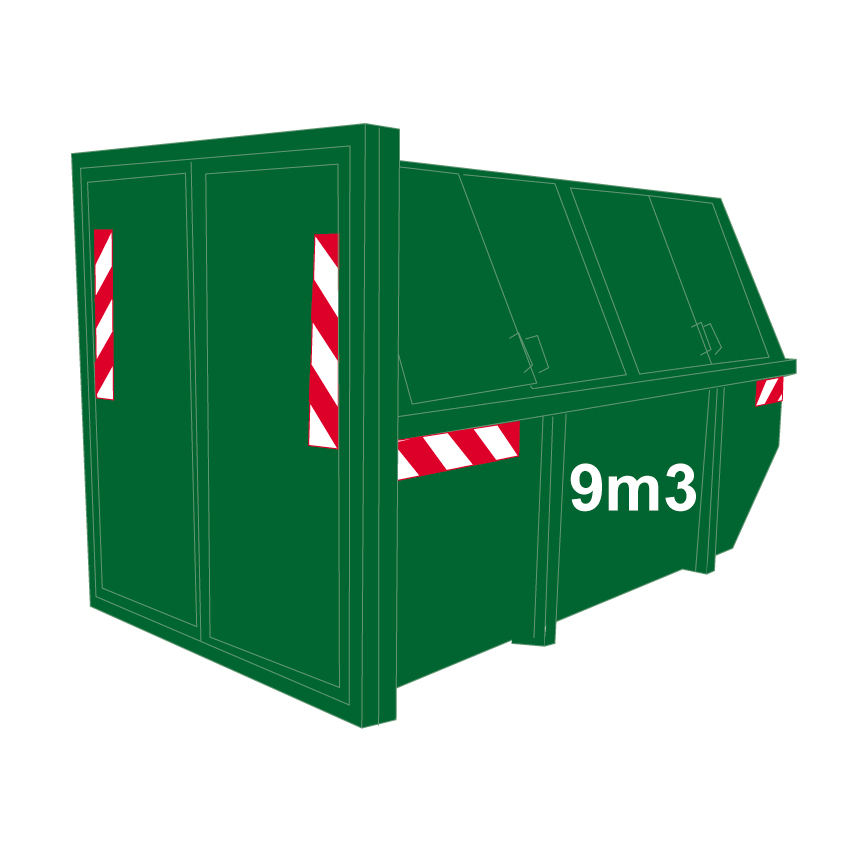 Groenafval container 9m3dicht