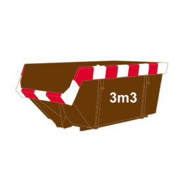 Hout container 3m3