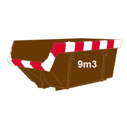 Hout container 9m3