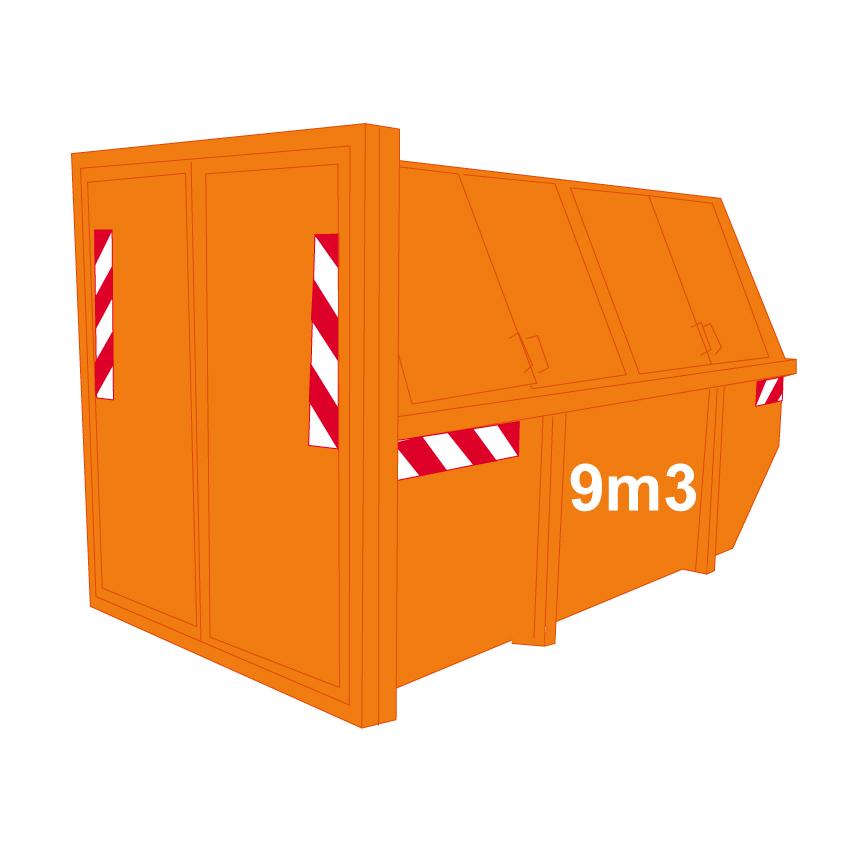 Puincontainer dicht 9m3