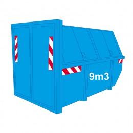 karton-papier-container-dicht 9m3